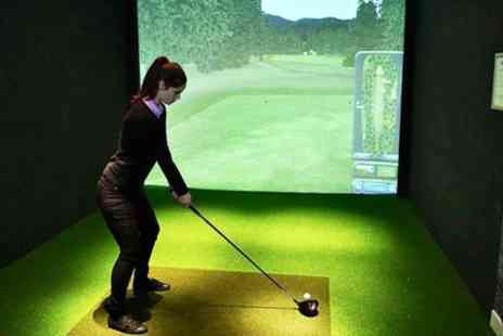 Sports Sim - Golf Simulator for Up to Two or Four - Save 28%