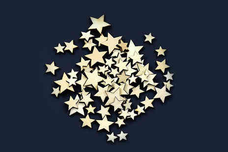 Alvis Fashion - Pack of 50 plywood stars - Save 87%