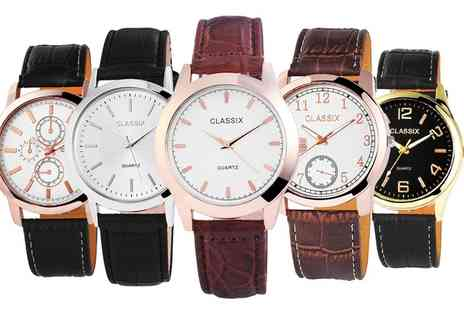 Groupon Goods Global GmbH - Range of Classix Unisex Watches - Save 88%