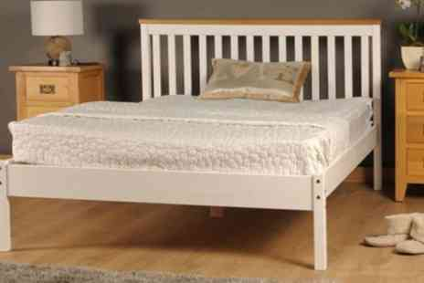 Groupon Goods Global GmbH - Handmade Wooden Medina Bed Frame and With Mattress Include Free Delivery - Save 71%