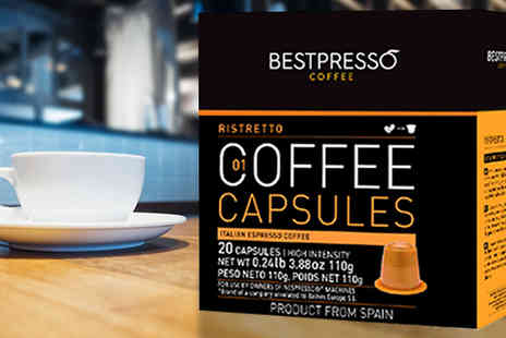 homelounge - 20 Nespresso Compatible Coffee Capsules - Save 40%