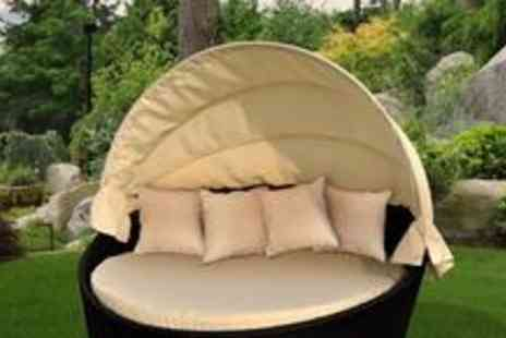 Royal Craft - Mocha brown Richmond rattan day bed from Royal Craft, including four scatter cushions - Save 0%