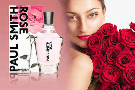 Deals Direct - 100ml bottle of Paul Smith Rose EDP - Save 37%