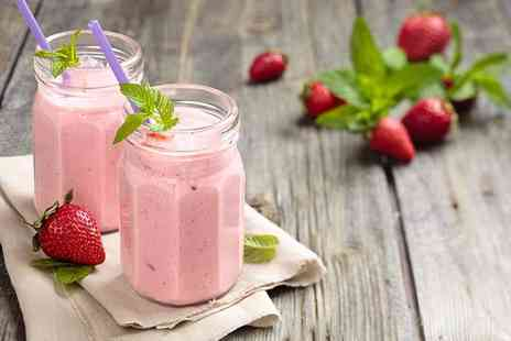Edible Blossoms - Juice, milkshake or smoothie for one or two - Save 49%