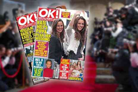 Northern and Shell - Six month 26 issue subscription to OK Magazine Plus DELIVERY INCLUDED - Save 33%