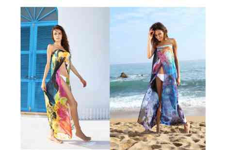 Who Runs the World - Beach sarong dress available in aqua mix & black and yellow - Save 80%