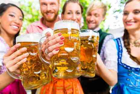 London Oktoberfest - Two tickets to Bierfest with a pint of German beer and Schnitzel each - Save 50%