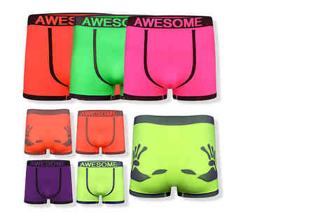 Stitch Trading - Six pack of mens neon boxers - Save 52%