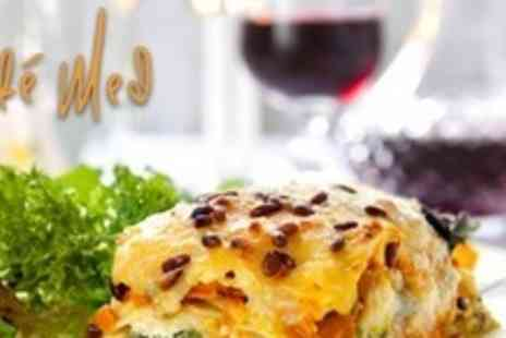 Cafe Med - Three Courses of Mediterranean Cuisine For Two - Save 60%