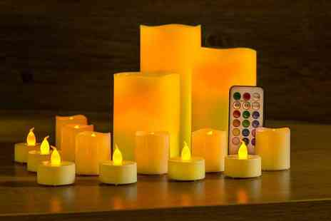 Groupon Goods Global GmbH - 15 or 30 LED Candles in Yellow or Colour Changing - Save 67%