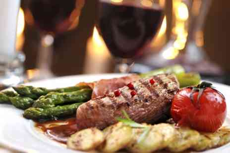 The Silver Larch - Sirloin Steak Meal with Glass of Wine for Two or Four - Save 0%
