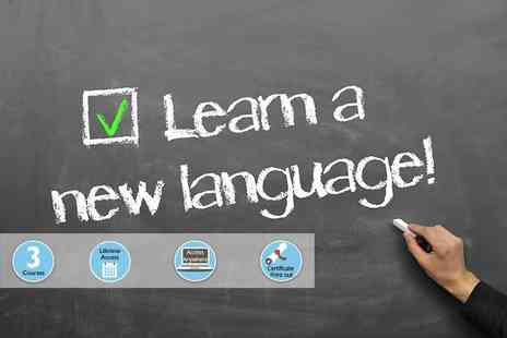 Skill Success - One of three online language courses two or all three take on a course in Spanish, German and Italian - Save 95%