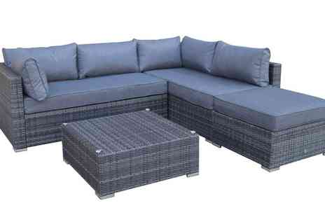 Groupon Goods Global GmbH - Hand Woven Wicker Sofa Set - Save 38%