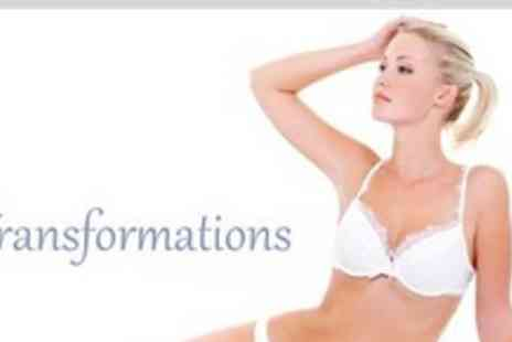 Transformations - Six Sessions of IPL Hair Removal on Two Small or One Medium Area Such One Large Area Such as Full Leg - Save 93%