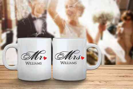 Deco Matters - Two personalised Mr & Mrs mugs - Save 50%