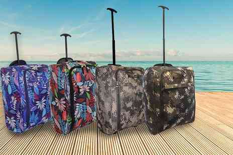 Pearl Info - Cabin approved wheelie hand luggage case choose from four designs - Save 81%