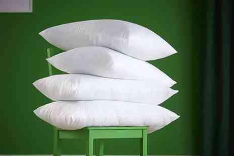 Home Furnishings Company - Four polycotton hollowfibre ultra bounce back pillows - Save 78%