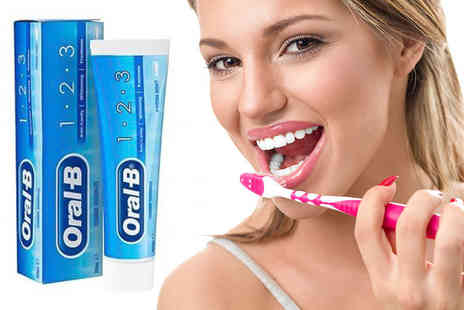 Zenith Wholesale - Six packs of Oral B 1 ,2 Or 3 whitening toothpaste - Save 76%