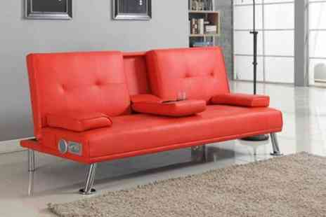 Groupon Goods Global GmbH - Reel Sofa Bed with Bluetooth Speakers - Save 72%
