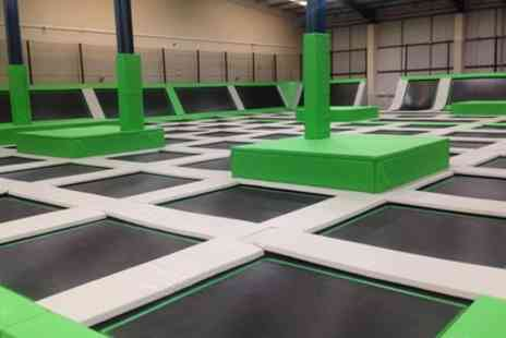 Ascent Trampoline Park - Two Hour Jump Session for Up to Four - Save 33%