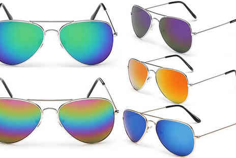 Fakurma - Two Pairs of Aviator Sunglasses Nine Styles - Save 87%