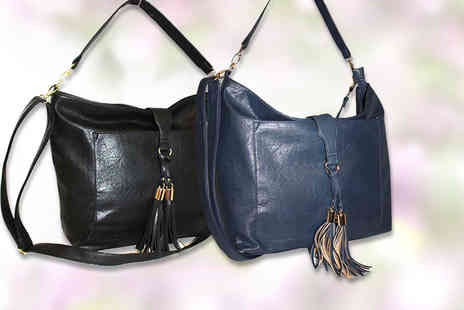 Pearl Info - Multi way shoulder bag with tassel design choose from four colours - Save 67%