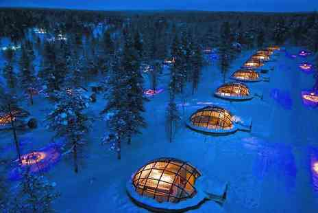 Crystal Travel - Two, three or four night Finland break with breakfast, a glass igloo stay and flights - Save 56%