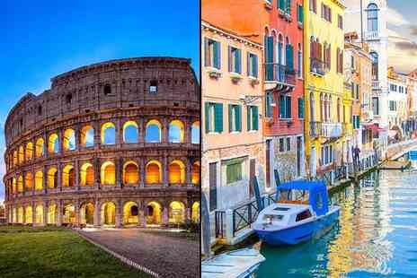 Crystal Travel - Four or six night Rome and Venice break with flights and train transfers - Save 35%