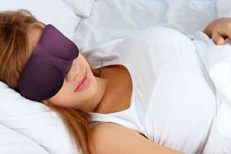 Ckent - 3D sleeping mask in pink, purple, black, blue & leopard print - Save 67%