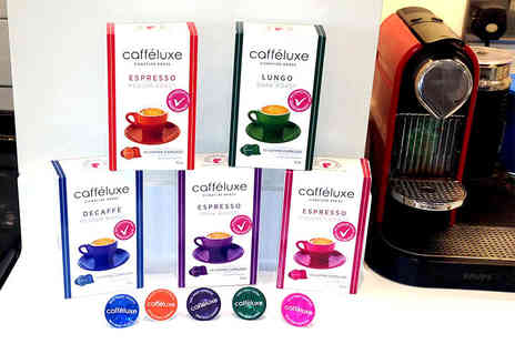 Fresh Coffee - 90 mixed Caffeluxe capsules enjoy dark, lungo, gourmet, medium and decaf - Save 76%