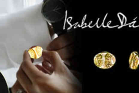 Isabelle Dario - Pin your sleeves together with these Sunken Galleon gold plated cuff links - Save 76%