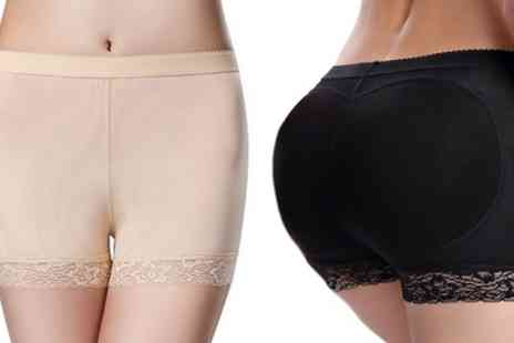 Groupon Goods Global GmbH - Womens Bum Lifting Underwear in Black or Nude One or Two Pairs - Save 0%