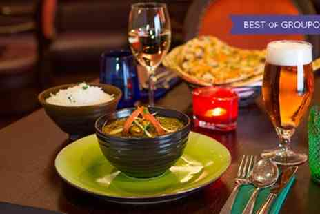 Fire & Spice Bar & Kitchen - Two Course Indian Meal with Wine for 2 or 4 people - Save 65%