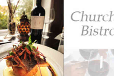 Churchs Bistro & Wine Bar - Two Course Meal With A Glass Of Wine For Two People - Save 55%