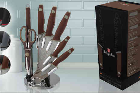 Goods Direct - Eight Piece Berlinger Haus Knife Set in 3 Colours - Save 0%