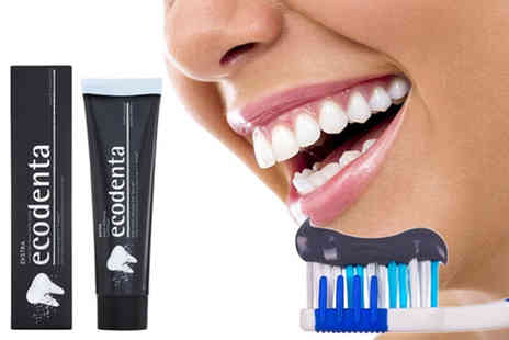 Zenith Wholesale - A 100ml tube of Ecodenta whitening Teavigo and activated charcoal toothpaste - Save 60%