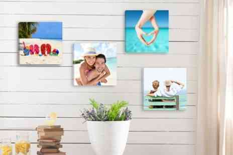 Deco Matters - Four 8 x 8  Inch personalised canvasses - Save 90%