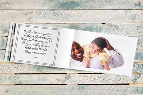 Smiley Hippo - 20 page personalised Fathers Day photobook - Save 79%