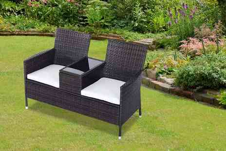 MHStar Uk - Two person rattan love seat select from two colours - Save 60%