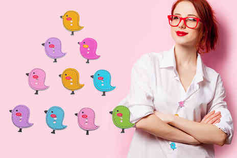 Alvis Fashion - Pack of 50 bird buttons - Save 87%