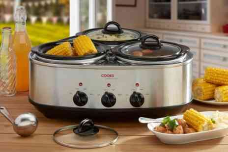 Groupon Goods Global GmbH - Cooks Professional Twin or Triple Slow Cooker - Save 56%