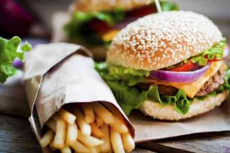Fish and Grill Express - Beef or Chicken Burger with Chips for Two - Save 0%