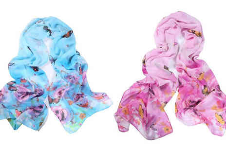 Marcus Emporium - Summer Butterfly Shawl Available in Two Colours - Save 70%