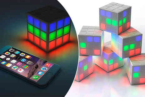 handtec - Rubiks style cube design LED portable speaker - Save 56%