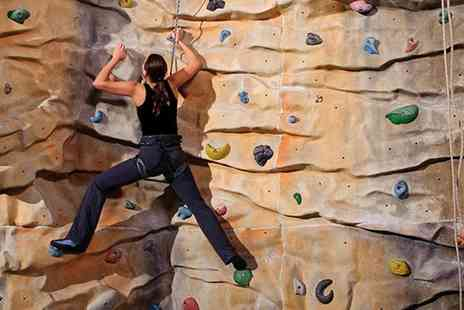 City Bloc Indoor Climbing - 30 minute indoor climbing lesson, one day pass and one year membership - Save 65%