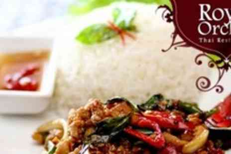 Royal Orchid - Two Courses of Thai Cuisine With Wine For Four - Save 62%