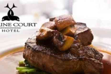 Marine Court Hotel - Sirloin Steak Meal For Two Plus Wine - Save 56%