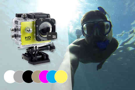 Toy Meets World - HD waterproof action camera with an 8GB or 32GB SD card choose from three colours - Save 80%