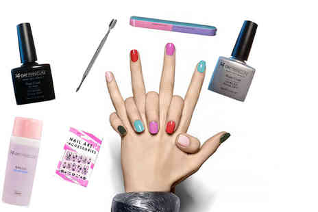 14 Day Manicure - UV top up pack with mystery UV gel polish and manicure accessories - Save 73%