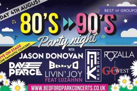 Bedford Park Concerts 2017 - 80s to 90s Party Night Child or Adult Ticket on 4 August - Save 0%